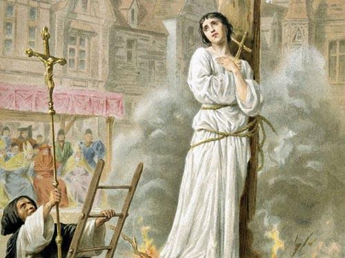 Открытка XIX века. Сожжение Жанны д'Арк. wikimedia.org