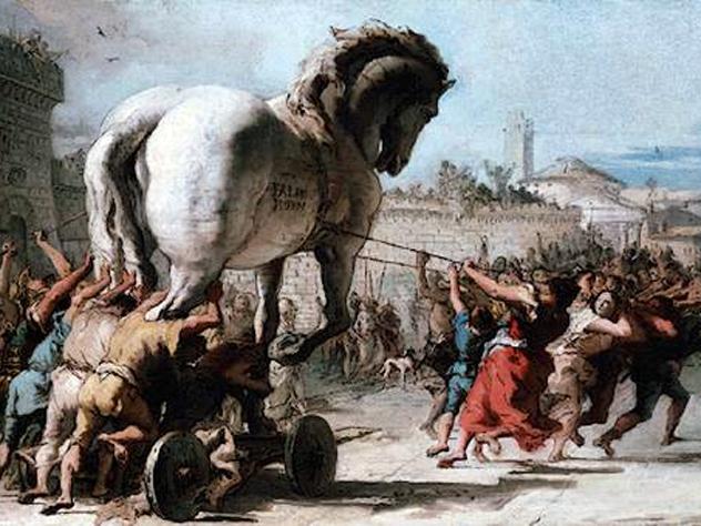 Джованни Доменико Тьеполо. Шествие троянского коня в Трою. wikimedia