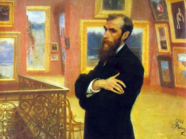 Портрет Третьякова кисти И.Е.Репина