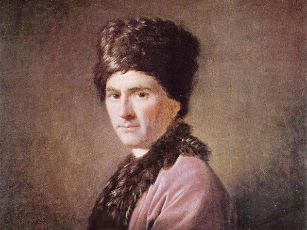 Портрет Руссо в Шотландской национальной галерее. Худ. – Аллан Рэмзи