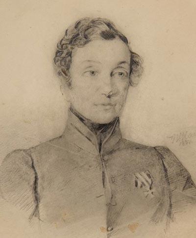 Надежда Дурова, 1837 год, рисунок В. Гау