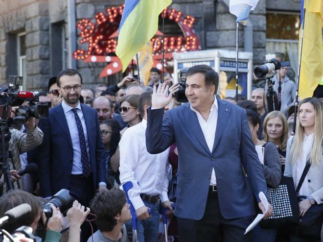 Саакашвили потребовал уПорошенко документы олишении гражданства