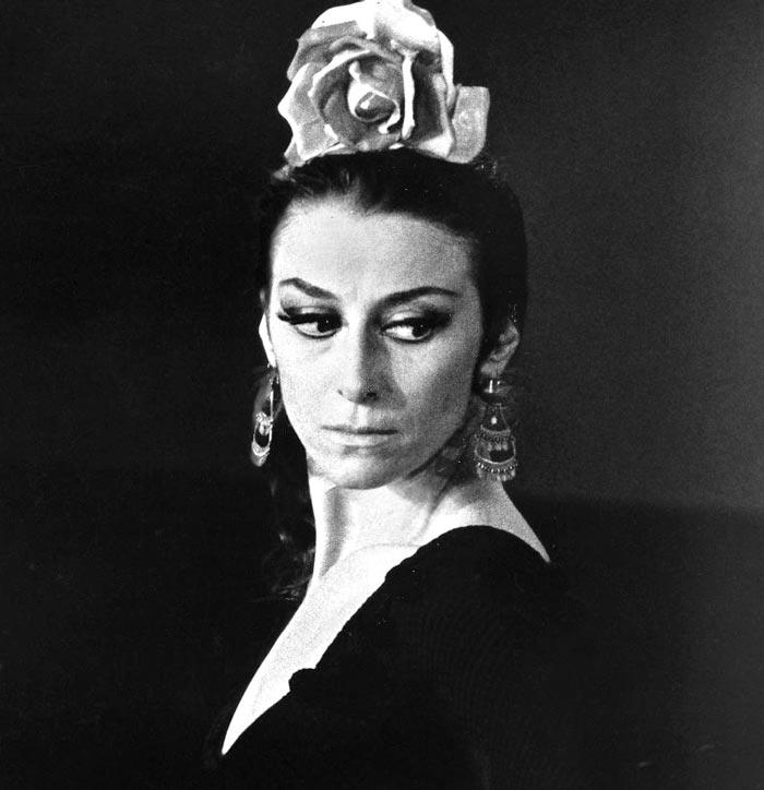 Майя Плисецкая, партнерша Годунова в Большом театре в роли Кармен, 1974 год. Фото: wikipedia.org