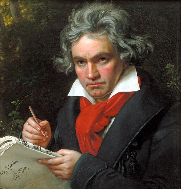 Портрет Бетховена кисти Йозефа Карла Штилера, 1820 год. Источник: wikimedia
